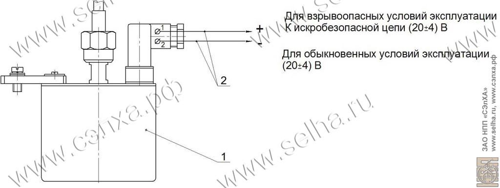 1 – датчик ДД-304;